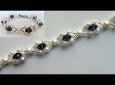 How to make an elegant bracelet (necklace) -. How to make an elegant bracelet (necklace) Beaded wedding jewelry pattern. How to make an elegant bracelet (necklace) -. Beaded Bracelet Patterns, Jewelry Patterns, Beaded Necklace, Beaded Bracelets, Pearl Necklaces, Bridal Necklace, Silver Bracelets, Diy Bracelets Easy, How To Make Necklaces