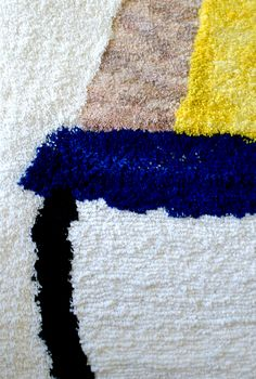 hand woven hand knotted woolen carpet Hoffmann graduation project by Jadwiga Lenart