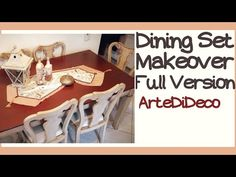 Dining Set makeover (Full Version) I paint my dining set with Majestic colors! Dining Set, Decoupage, Diy, Crafts, Youtube, Home Decor, Dinning Set, Home, Verses