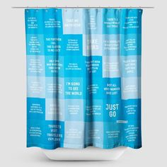 Travel Quotes - Shower Curtain