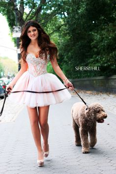 I'm just loving the dog!! OK! cute dress but look at the dog! :D