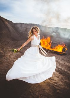 Photographer Burns Couch, with a Bride on It, Bringing Attention to Divorce | Fstoppers