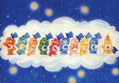 Classic Care Bears Show Care Bear Tattoos, Cat Tattoos, Care Bear Party, Nostalgia Art, Moon Bear, Rainbow Brite, Laurel Burch, Vintage Artwork, Cartoon Kids