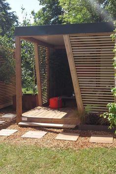 Pergola At Home Depot Referral: 8592749037 Modern Pergola, Outdoor Pergola, Gazebo, Ideas Terraza, Outdoor Garden Rooms, Small City Garden, Backyard Patio Designs, Backyard Landscaping, Hot Tub Garden