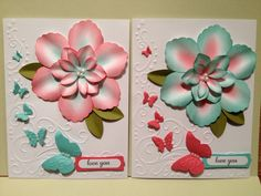 Mother's Day Card - Stampin Up blossom petals XL punch.