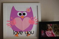 This Valentine's Day owl looks so excited! A cute handprint craft for little kids.