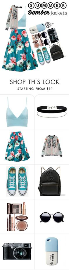"""Bomber Jackets"" by zulfastley on Polyvore featuring Michael Lo Sordo, Miss Selfridge, Delpozo, Gucci, Charlotte Tilbury, Retrò, Valfré, Lord & Taylor and bomberjackets"