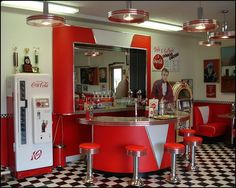 images of retro diners | ... retro diner scenes or old vintage car murals in retro and vintage wall