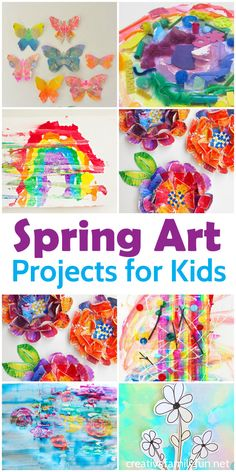 The best and most beautiful spring art projects for kids.