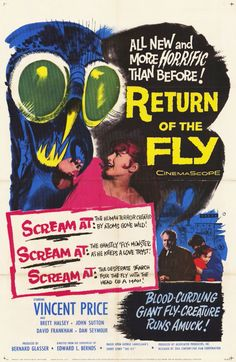 Return of the Fly (1959) starring Vincent Price