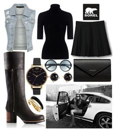 """""""Kick Up the Leaves (Stylishly) With SOREL: CONTEST ENTRY"""" by ayiarundhati ❤ liked on Polyvore featuring SOREL, Theory, WithChic, Balenciaga, Olivia Burton, Tom Ford, Irene Neuwirth, Michael Kors and sorelstyle"""