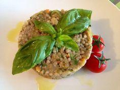 Tortino+di+grano+saraceno+e+verdure+saltate+senza+glutine
