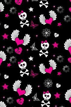 New print sugar skulls skullzzzz pinterest sugar skulls skull wallpaper for girls voltagebd Choice Image
