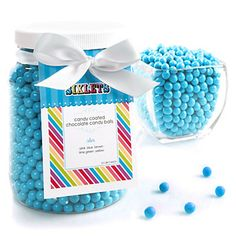 Blue Sixlets - Birthday Party Candy - 1/2 Gallon | BigDotOfHappiness.com
