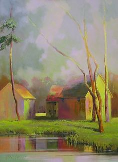 Paul Stone Equivocal Light by Vermont Fine Art Gallery Oil ~ 48 x 36