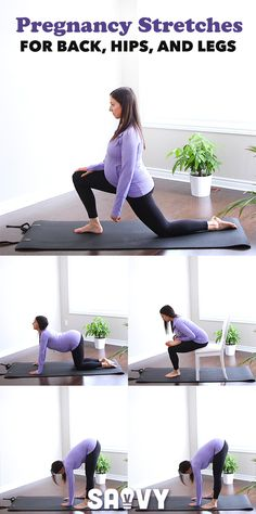 Pregnancy Stretches for Back, Hips, and Legs Stretching for the back, hips and legs # pregnancy nutrition. Prenatal Workout, Mommy Workout, Prenatal Yoga, Pregnancy Workout, Pregnancy Fitness, Pregnancy Nutrition, Pregnancy Health, Post Pregnancy, After Pregnancy