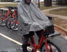 Elizabeth Sharing a Capital Bike