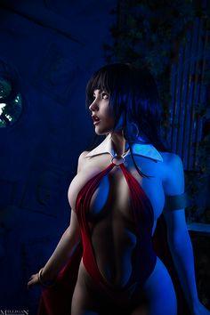 Character: Vampirella / From: Warren Publishing, Harris Publications & Dynamite Entertainment's 'Vampirella' / Cosplayer: Christina Fink (aka Jas Frost, aka JasDisney) / Photo: Milligan Photography (Victoria Milligan) (2016)