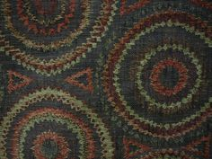 Chenille tapestry in concentric circles of rust, sage, gold and black Circles, Sage, Rust, Chairs, Buy And Sell, Tapestry, Knitting, Crochet, Gold