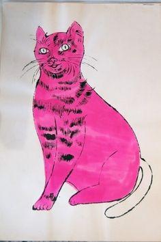 El gato que Andy Warhol pintó.