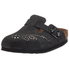 Birkenstock Clogs ''Boston RSB'' from Leather in Schwarz