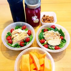 Headed to the beach with my love for the day. Packed up some yummies to enjoy on the beach. Spinach salads with grilled chicken breasts with tomatoes and feta cheese, cantaloupe, almonds, water and some green tea/passion tea. #Padgram