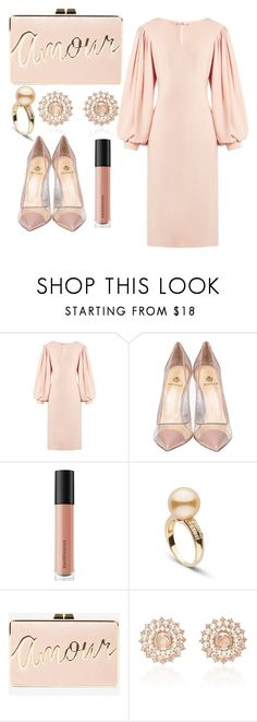"""""""Mi Amoure"""" by letsglambaby ❤ liked on Polyvore featuring Osman, Semilla, Bare Escentuals, BCBGMAXAZRIA and Nam Cho"""