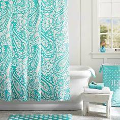 Garden Paisley Shower Curtain Fabric Curtains Bathroom