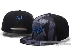 FOX Snapback Hats Black Grey 3806|only US$20.00 - follow me to pick up couopons.