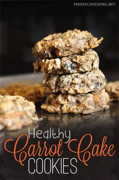 Healthy Carrot Cake Cookies | fridaylovesong.net