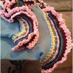 My first teen size Project Linus crochet blanket edge