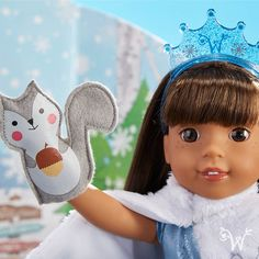 Look! There's even a cute little ice princess costume for the Welliewishers!