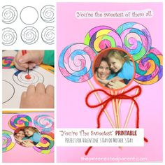 Spread the loveAre you looking for a sweet craft idea for the kids this Valentine's Day? Well, you found it. These super adorable lollipops are the sweetest and they wont give you any cavities, but…Continue Reading… Mothers Day Crafts, Crafts For Kids, Arts And Crafts, Valentine Cupid, Valentines Day, Mirror Crafts, My Little Girl, Cute Cards, Printables