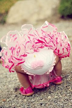 Your princess will be too cute for words in these cupcake bloomers!