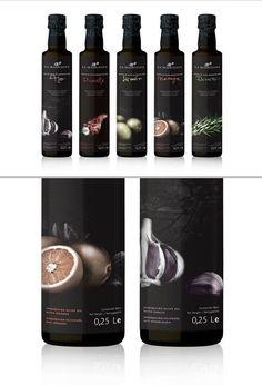 Nice Packaging Design by ATIPUS, a Studio from Barcelona olive oil packaging Olive Oil Packaging, Spices Packaging, Black Packaging, Beverage Packaging, Bottle Packaging, Seed Packaging, Olive Oil Bottles, Label Design, Package Design