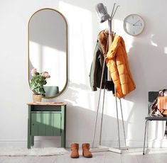 AMBIENT SLIM ZŁOTE owalne lustro w skandynawskim stylu Mebloscenka Bauhaus, Wardrobe Rack, Oversized Mirror, Furniture, Design, Home Decor, Blog, Decoration Home, Room Decor