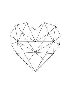 69 super Ideas for tattoo geometric heart patterns
