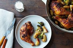 Roasted Achiote Chicken Potatoes