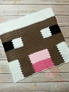 This silly little sheep is great for not only wool but food as well. Most sheep are white but if you're lucky you may see them in shades of grey and black. My sheep was done in single crochet wit. Minecraft Blanket, Minecraft Sheep, Minecraft Crafts, Minecraft Crochet Patterns, Minecraft Pattern, Pixel Crochet, Crochet Chart, Yarn Projects, Crochet Projects