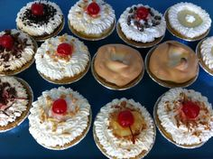 Mini cream pies. So many to choose from. Perfect for any occasion or even just a little snack.