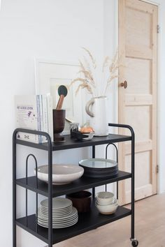 Vintage trolley in the home of photographer / stylist Holly Marder.