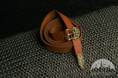 MEDIEVAL LEATHER BELT WITH MOLDED ACCENTS X-XI SLAVIC