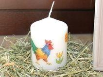 Osterkerze Eikerze Kerze Hahn und Henne