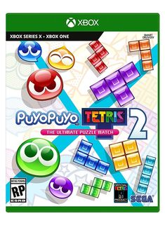 Japan's beloved puzzle game series Puyo Puyo and the world-renowned Tetris® game franchise have teamed up again to deliver even more Puyo-popping and Tetrimino-clearing fun in Puyo Puyo Tetris 2. Playing is easy: match 4 or more same-colored Puyos or complete a line of blocks to clear them from your board and dump Garbage into your opponent's game. But keep an eye on what's coming your way too. Play traditional Puyo Puyo and Tetris…or mix them together to level up your game. Offline or… Jeux Xbox One, Xbox 1, Playstation 5, Xbox One Games, Ps4 Games, Tetris 2, Arcade, Sonic The Hedgehog, Online Match