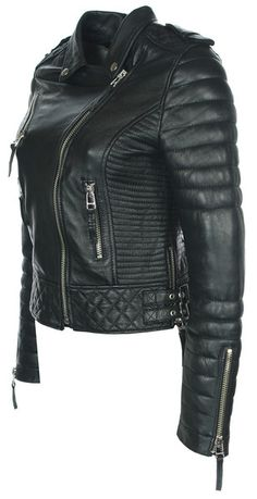 Kay Michael's Quilted Biker (Oil Black) need this jacket in my life.