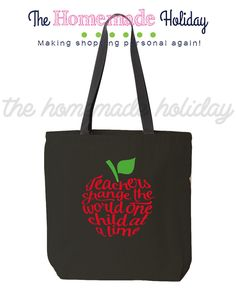 Teachers change the world one child at a time canvas tote bag, teacher tote bags