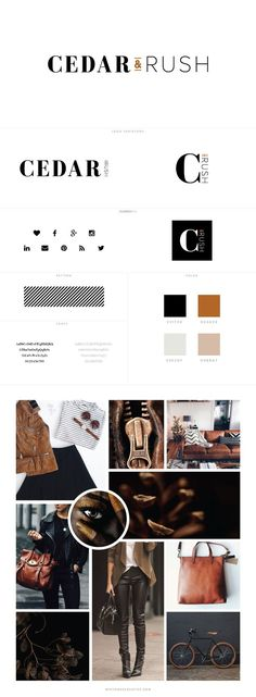 Cedar & Rush Blog Design by White Oak Creative - logo design, wordpress theme, mood board inspiration, blog design idea, graphic design, branding