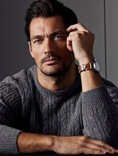 David Gandy Marks & Spencer 2014. tél szürke cableknit pulóver