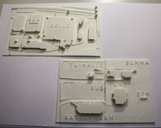 3D printing tactile map Versoteq