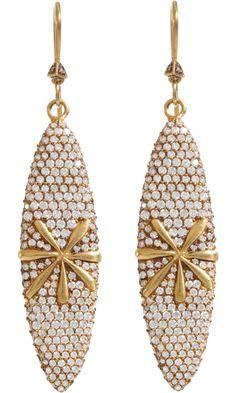 Cathy Waterman Diamond Kimono Earrings
